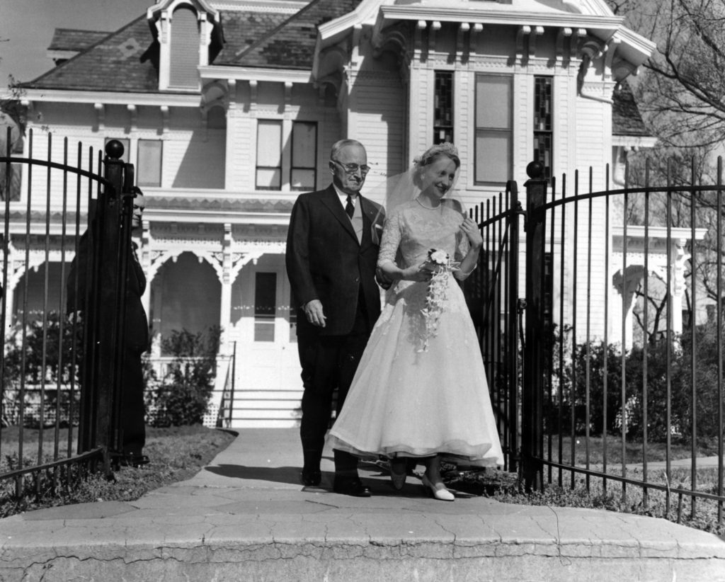 President Harry S Truman and daughter Margaret wedding day